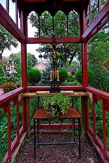 view through shrine